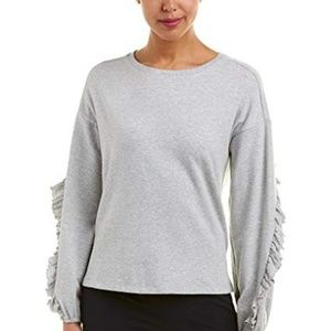 Two by Vince Camuto Womens Long Ruffled Sleeve Top